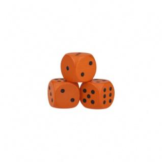 Augenwürfel - 16mm - orange