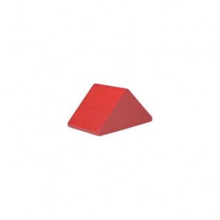 Baustein - Dreieck - 30x47x25 mm - rot