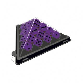 Spiel mini - Würfelpyramide violett