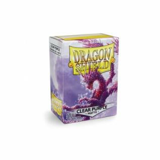 Dragon Shield Matte - Clear Purple (100 Stück) limitiert
