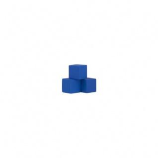 Würfel - Quader - kantig - 8mm - blau