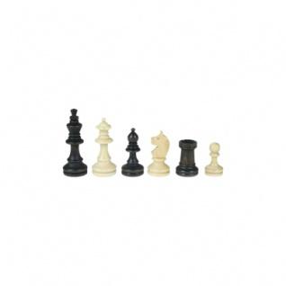 Schachfiguren - Bohemia - Staunton - braun - Königshöhe 55 mm