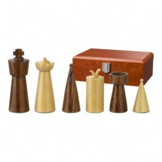 Schachfiguren - Galba - Holz - Modern Style - Königshöhe 90 mm