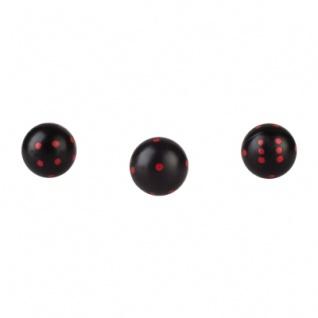 Rundwürfel - Würfel rund - schwarz - 21mm