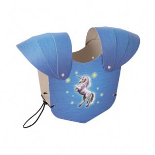 Brustpanzer blau Einhorn