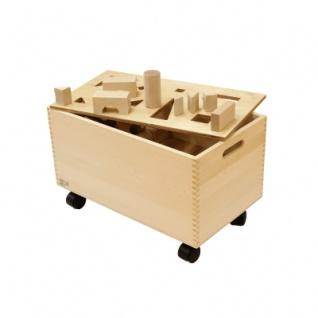 126 Bauklötze im Container - Truhe - natur - 50mm