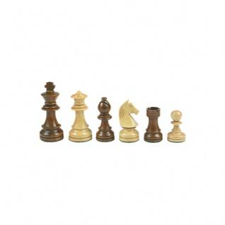Schachfiguren - Staunton - braun - Königshöhe 70 mm - gewichtet