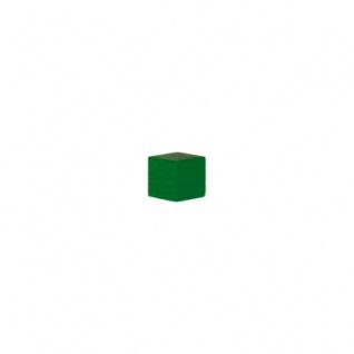 kantig Holz Holzwürfel 15 mm Spielsteine grün