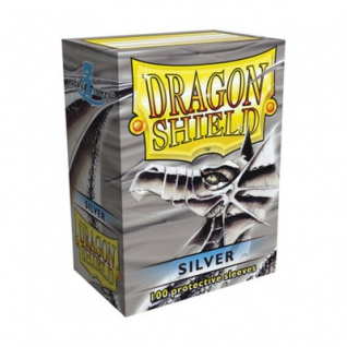 Dragon Shield - Silber - 100 Stück