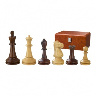 Schachfiguren - Augustus - Holz - Modern Staunton - Königshöhe 100 mm