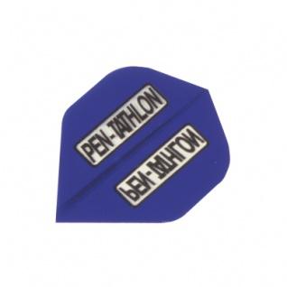 3 x Fly Pen-Tathlon - Standard Flight - blau - Kunststoff - 100 My