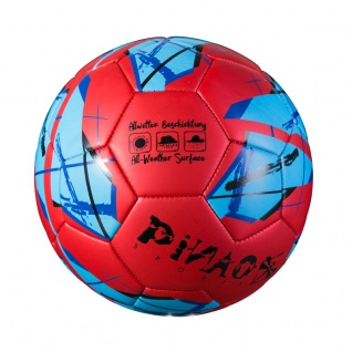 Fußball - Soccer Ball Metallic in blau oder rot