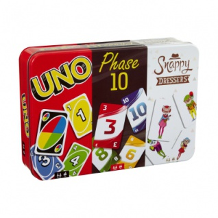 Kartenspiel-Klassiker in Metalldose (UNO, Phase 10, Snappy Dressers)