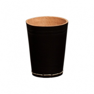 ca schwarz Würfelbecher aus Leder 8,5 cm x 6,5 cm