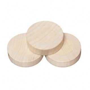Spielsteine - rund - Holz - natur - 30 x 8 mm