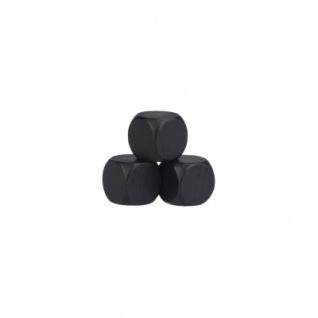 Blankowürfel - 12mm - schwarz