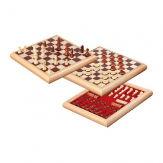 Schach-Dame-Set - Holzbox