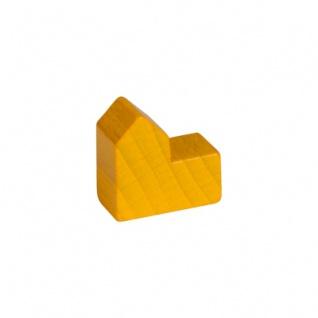 Stadt - Kirche - Haus - Holz - gelb - 20x19x10mm