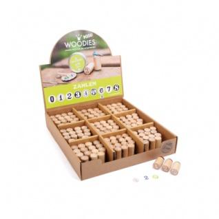 Display Woodies Stempel Zahlen