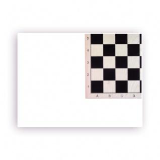 Schachbrett Ahorn bedruckt - mit Zahlen und Buchstaben - Breite 52cm - Feldgröße 58mm