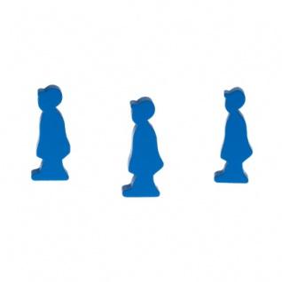 Männchen mit Cap - 14x36x8mm - blau