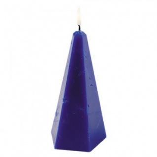 Kerze - handgearbeitet - Pyramiden-Form - 5 versch. Farben - ca 22 cm