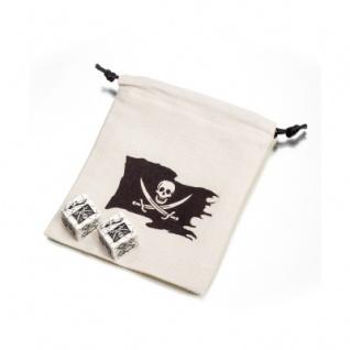 Piraten Würfel und Stoffbeutel - 110x120mm - 2 Stück