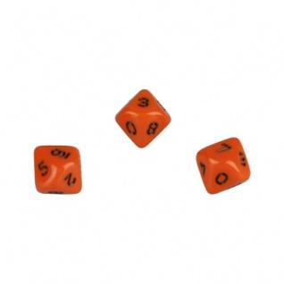 10-seitiger Würfel - Trapezoeder - W10 - 0-9 - orange