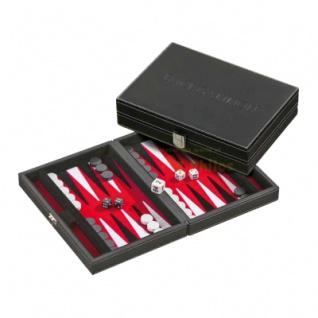Backgammon - Kassette - Ktesias - Kunstleder - klein - magnetisch