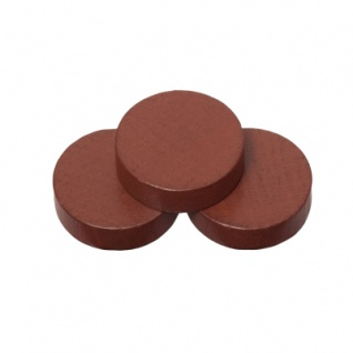 Spielsteine - rund - Holz - braun - 21 x 6 mm - Vorschau 1
