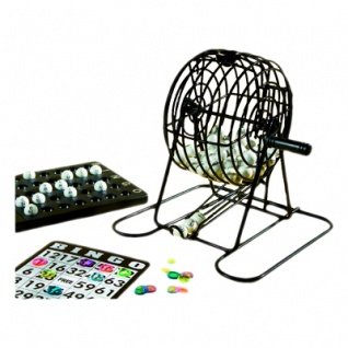Bingo Spiel - Lotto komplett - 13, 5cm - 75 System