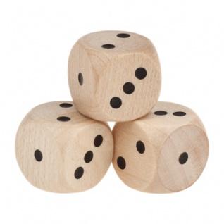 Spezial Holzwürfel - nur 1-3 Augen - natur - W6 - 16mm