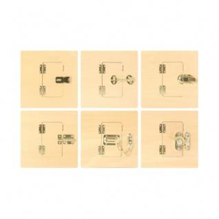 Verschlüsse-Bretter (6 Stück)