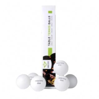 Tischtennisbälle 40mm - weiß - 6 Stück