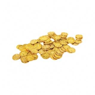 Piratengeld - Goldmünzen - Spielgeld - 33 mm - gold - 100 Stück