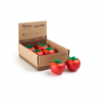 Display Tomate aus Holz
