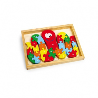 Steckpuzzle Tintenfisch ABC