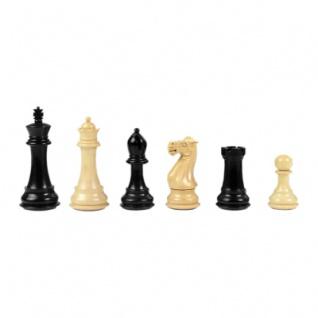 Schachfiguren - Staunton - schwarz lackiert - Königshöhe 95 mm