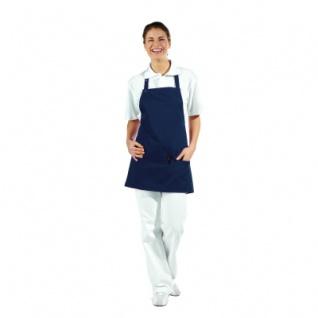 3 fach-Taschenschürze - marine-blau - 65 cm