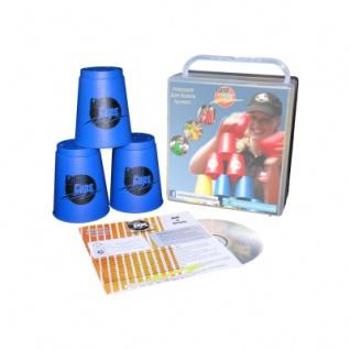 Speed - FlashCups - 12 Stück - Blau mit Lunchbox+DVD