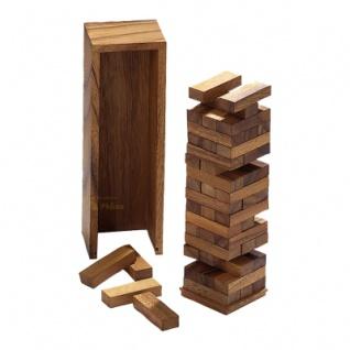 Verflixter Turm - groß - Samena-Holz - 300mm hoch