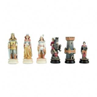 Schachfiguren - Linde - handbemalt - Königshöhe 100mm
