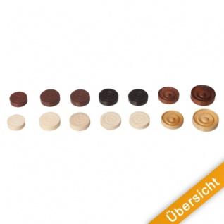 Spielsteine - rund - Holz - braun - 21 x 6 mm - Vorschau 5