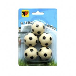 Kickerball - Fussball - schwarz-weiss - 32mm - 5 Stück