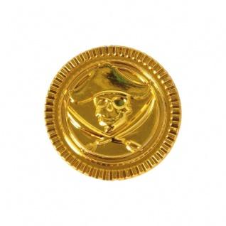 Piratengeld - Goldmünzen - Spielgeld - 33 mm - gold - 100 Stück - Vorschau 5