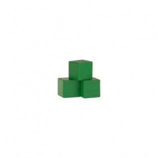 Holzwürfel - Spielsteine - kantig - grün - Holz - 10 mm