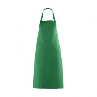 Latzschürze mit großer Tasche - gärtnergrün - 100 cm