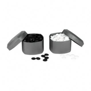 Go Spielsteine aus Glas - 21, 5 x 8, 3 mm - mit Boxen - 180 Stück