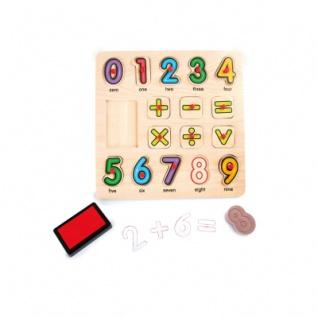 Stempel und Puzzle Mathematik