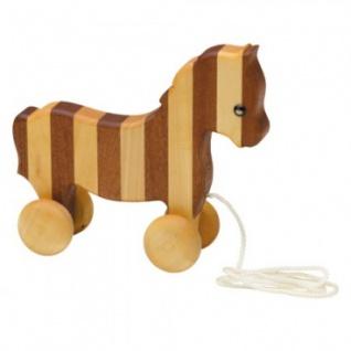 Streifentier - Holzfigur - Pferd - 18 cm